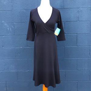 NWT Columbia Dress, black size S/P, 3/4 sleeve